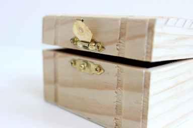 antique box chest close up